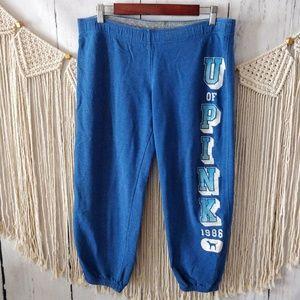 PINK Victoria's Secret Blue Crop Sweatpant S